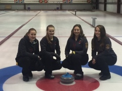 Girls Curling Rock